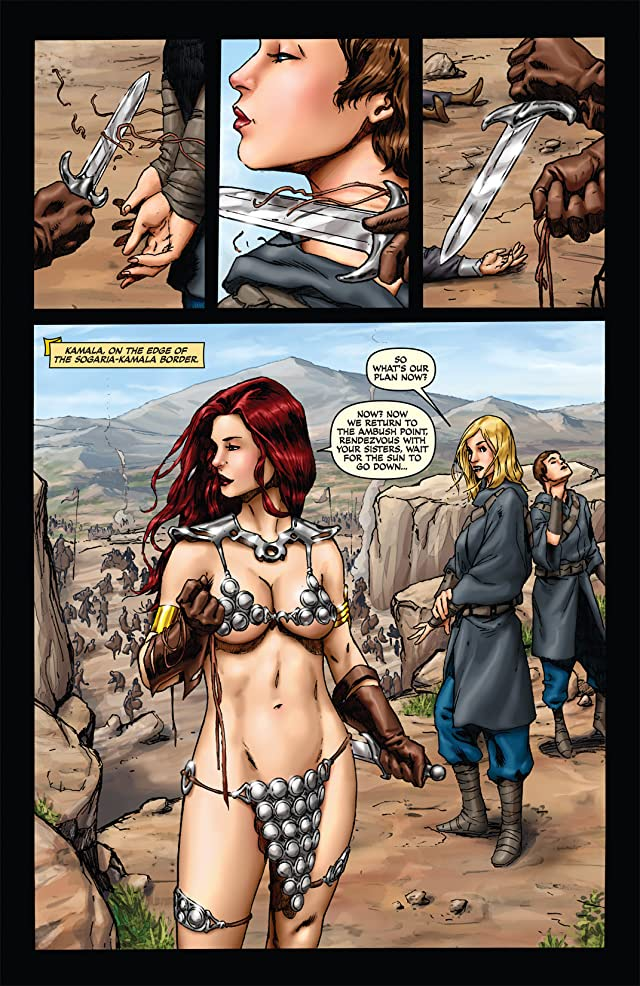 click for super-sized previews of Queen Sonja #3