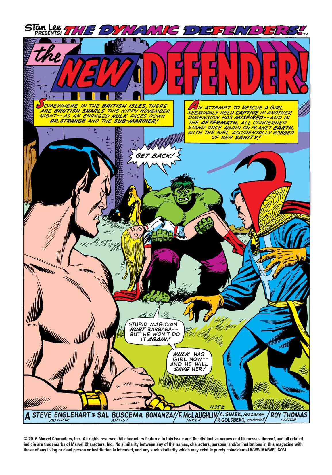 Defenders (1972-1986) #4