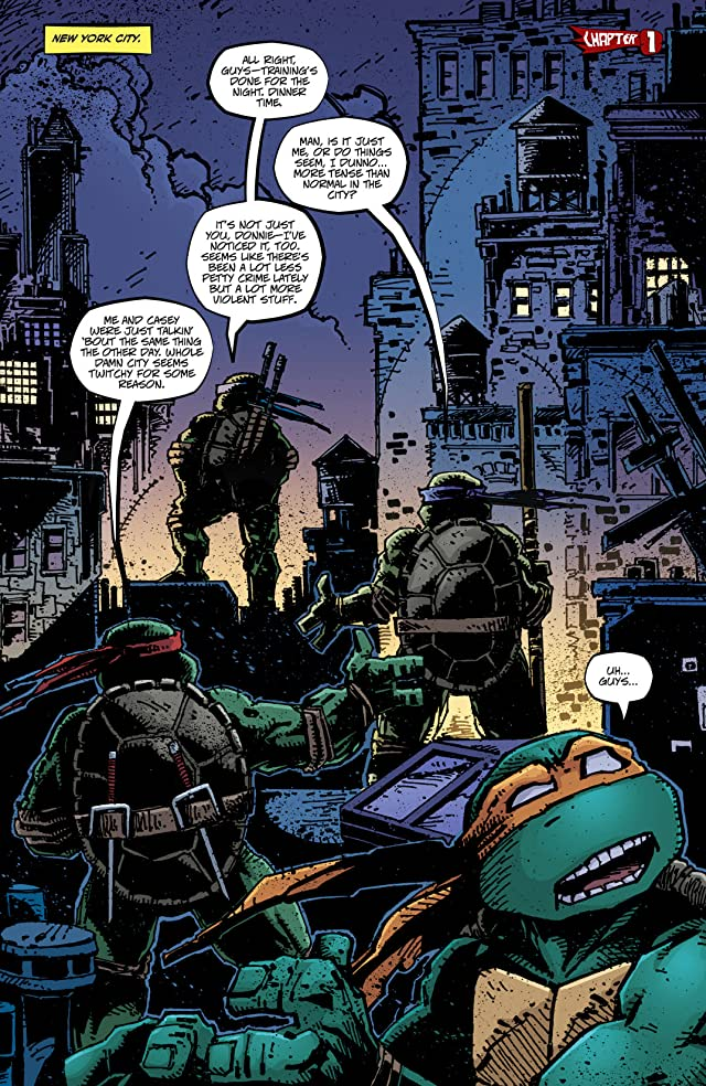 click for super-sized previews of Teenage Mutant Ninja Turtles Vol. 6: City Fall, Part 1
