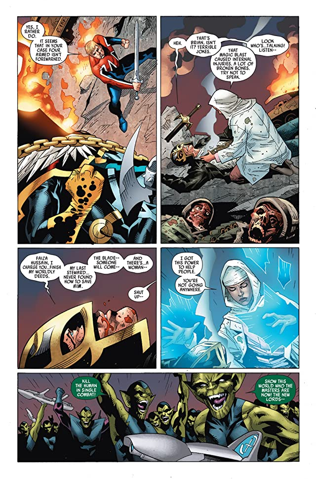click for super-sized previews of Captain Britain and MI: 13 #4