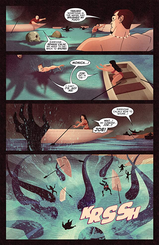 click for super-sized previews of Spider-Man & The Human Torch in Bahia De Los Muertos #1