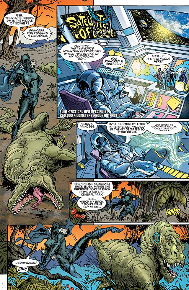 click for super-sized previews of Klaws of the Panther #1 (of 4)
