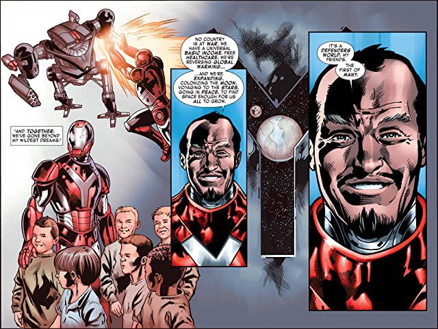 click for super-sized previews of Iron Man: Fatal Frontier Infinite Comic #9