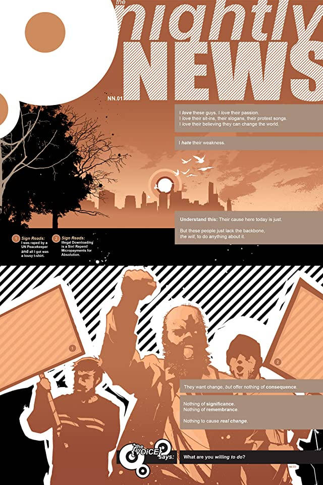 click for super-sized previews of The Nightly News Vol. 1