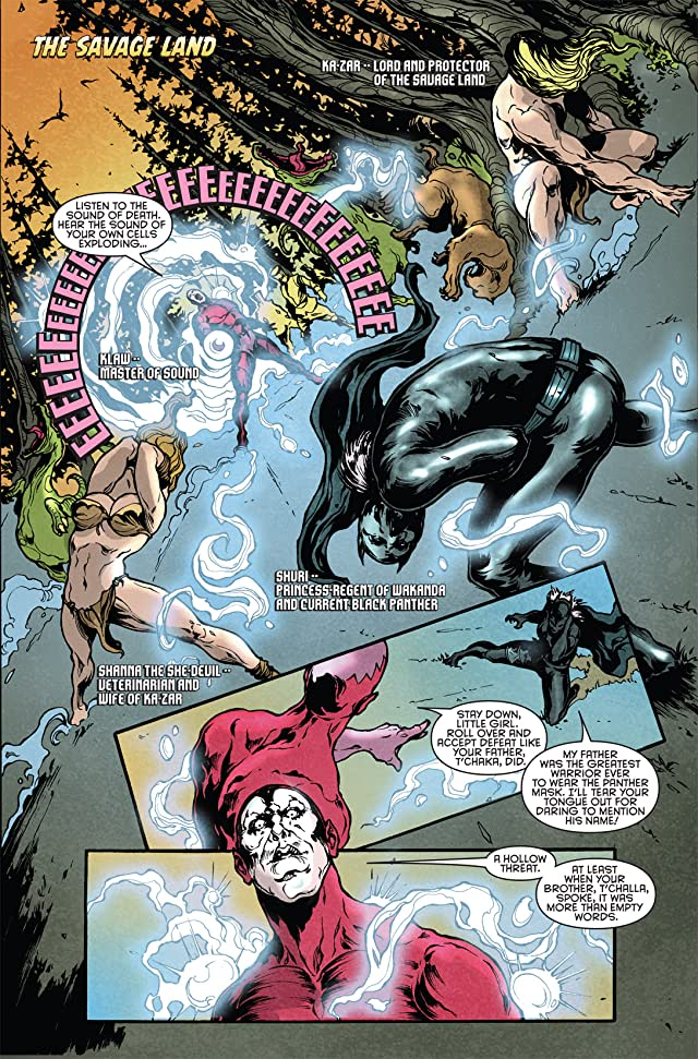click for super-sized previews of Klaws of the Panther #2