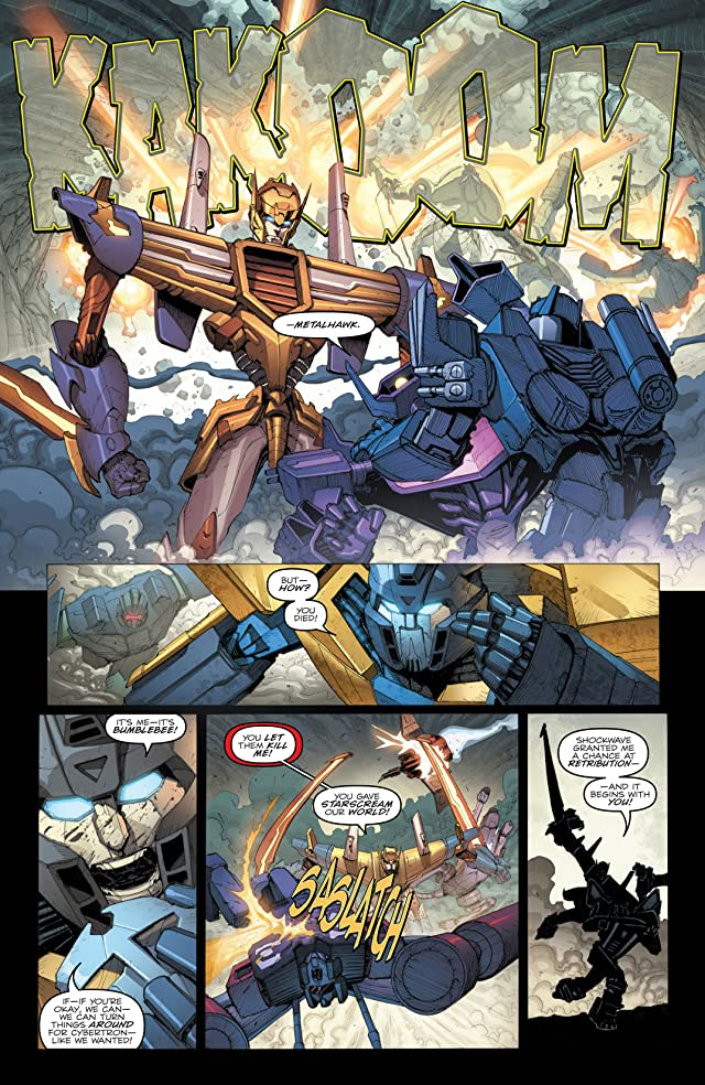 click for super-sized previews of Transformers: Robots In Disguise (2011-) #24: Dark Cybertron Part 5