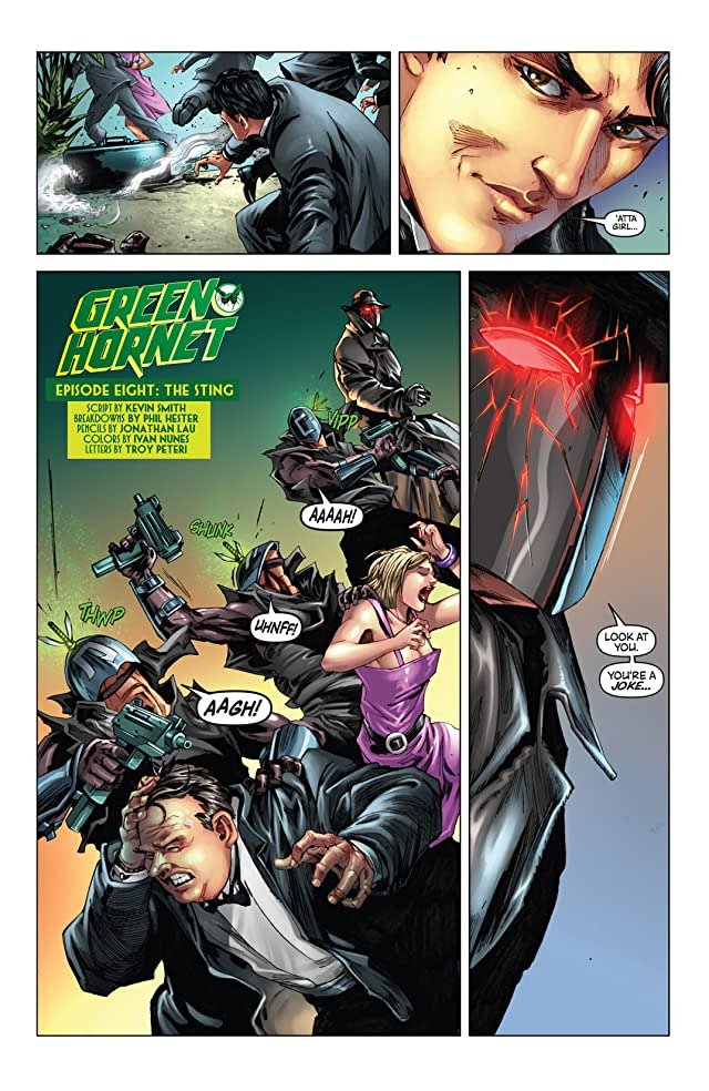click for super-sized previews of Kevin Smith's Green Hornet #8