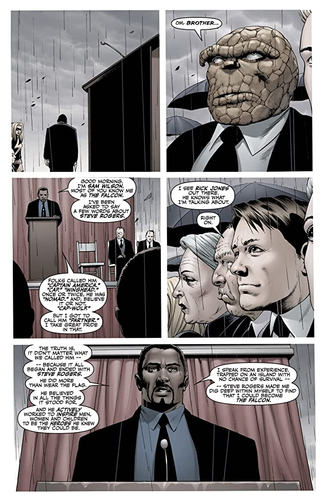click for super-sized previews of Fallen Son: Death of Captain America #5: Iron Man