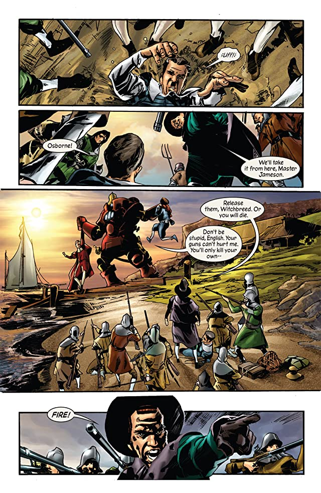click for super-sized previews of Marvel 1602 #4: New World