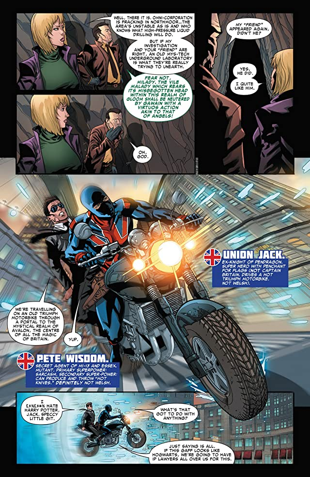 click for super-sized previews of Revolutionary War: Knights of Pendragon #1
