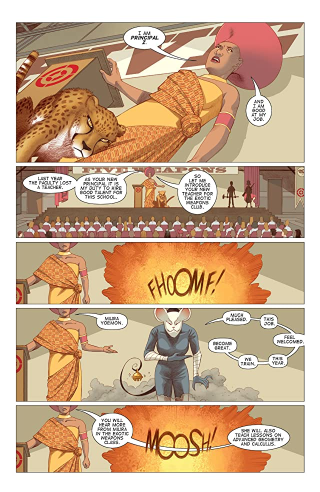 click for super-sized previews of Five Weapons #6
