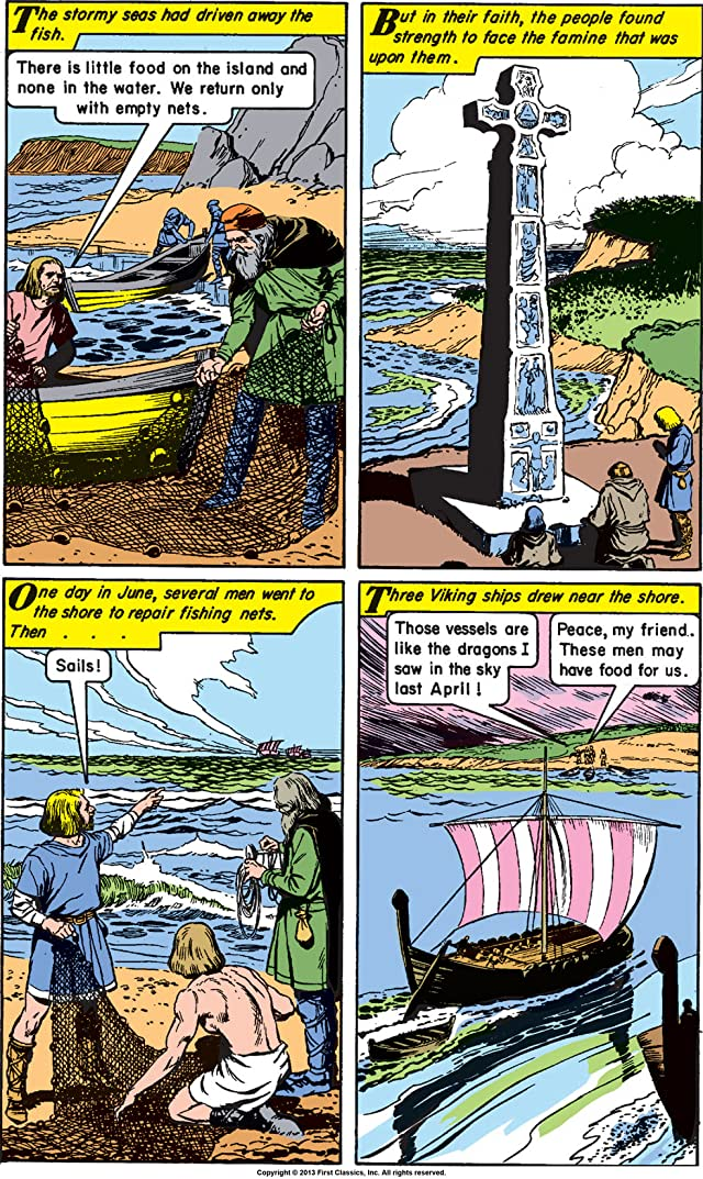 click for super-sized previews of Classics Illustrated World Around Us #29: The Vikings