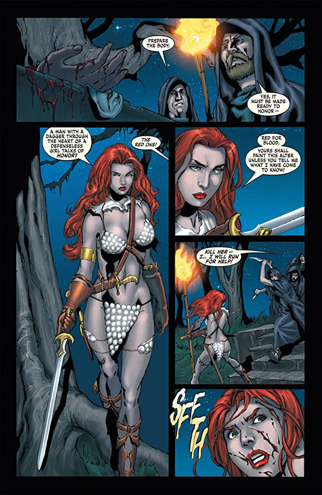 click for super-sized previews of Red Sonja: She-Devil With a Sword #8