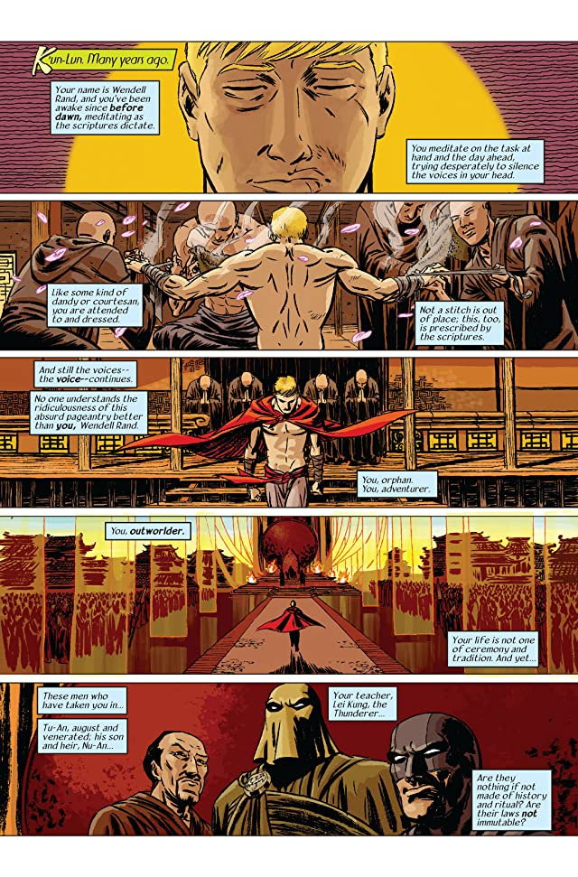 click for super-sized previews of Immortal Iron Fist #12