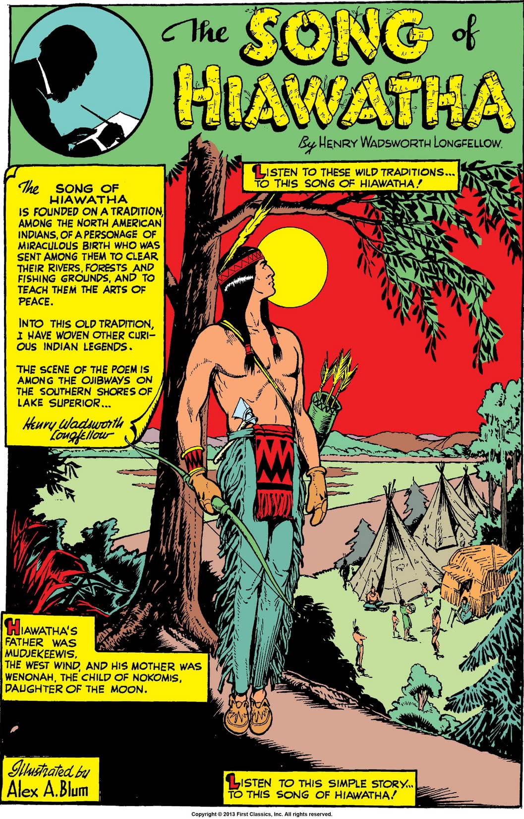 classics illustrated 57 the song of hiawatha comics by  classics illustrated 57 the song of hiawatha