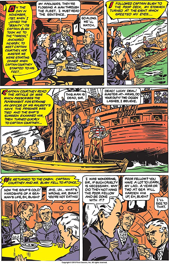 Classics Illustrated #100: Mutiny on the Bounty