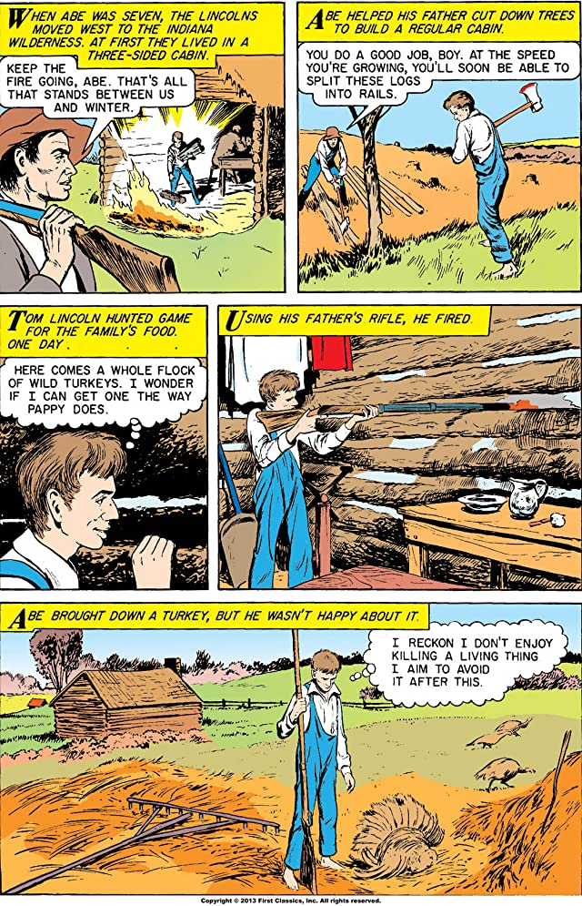 click for super-sized previews of Classics Illustrated #142: Abraham Lincoln