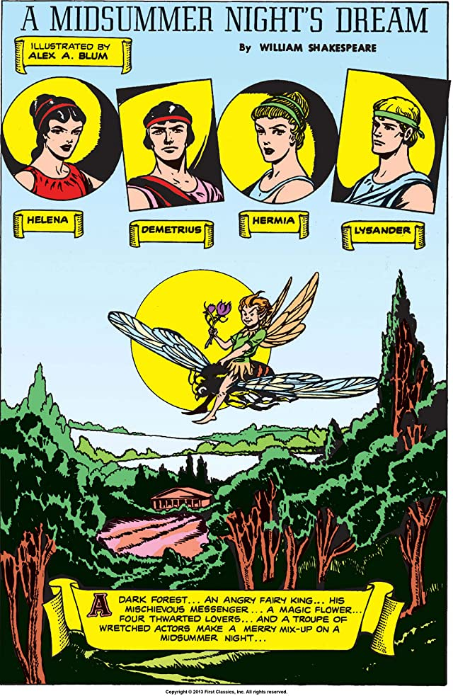 click for super-sized previews of Classics Illustrated #87: A Midsummer Night's Dream