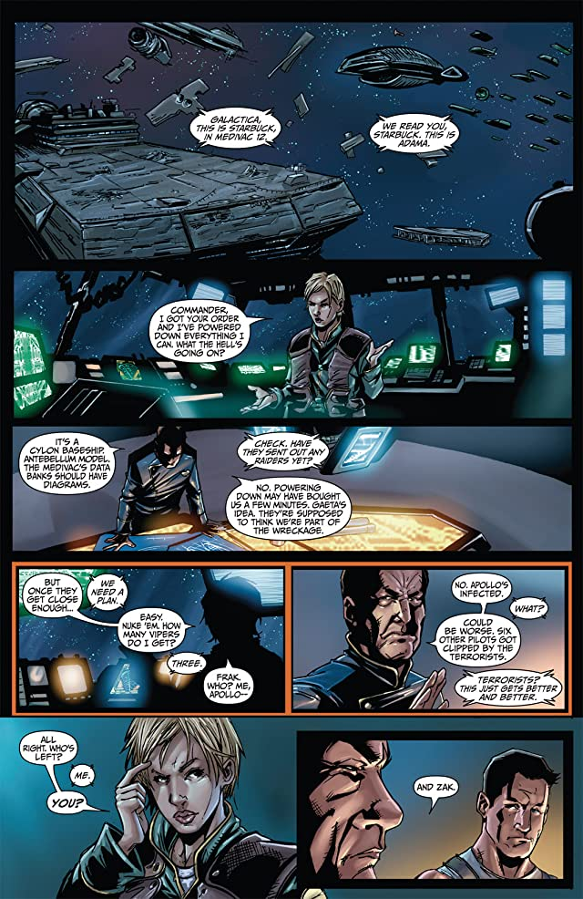 click for super-sized previews of Battlestar Galactica #3