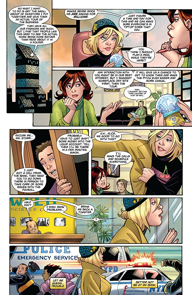 click for super-sized previews of Power Girl #9