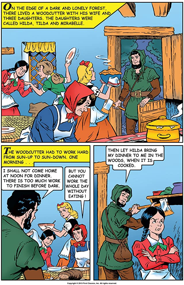 click for super-sized previews of Classics Illustrated Junior #543: House in the Woods