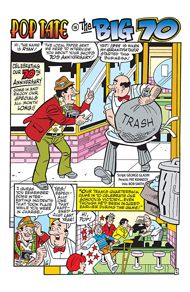 click for super-sized previews of Archie at the Chocklit Shoppe