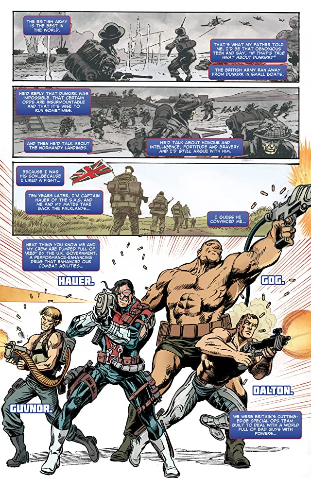 click for super-sized previews of Revolutionary War: Supersoldiers #1