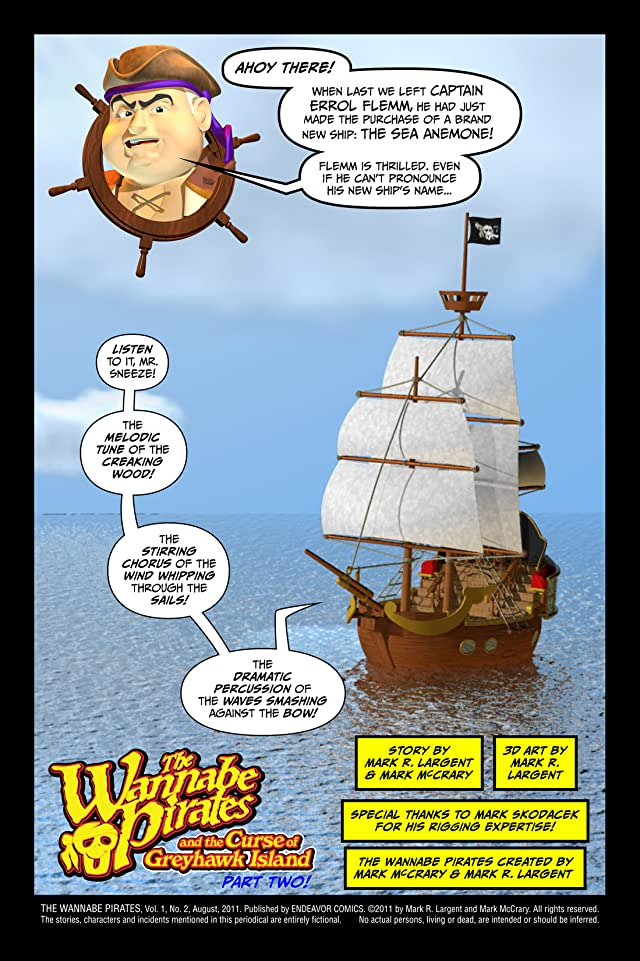 click for super-sized previews of The Wannabe Pirates #2