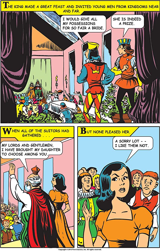 click for super-sized previews of Classics Illustrated Junior #553: King Thrushbeard