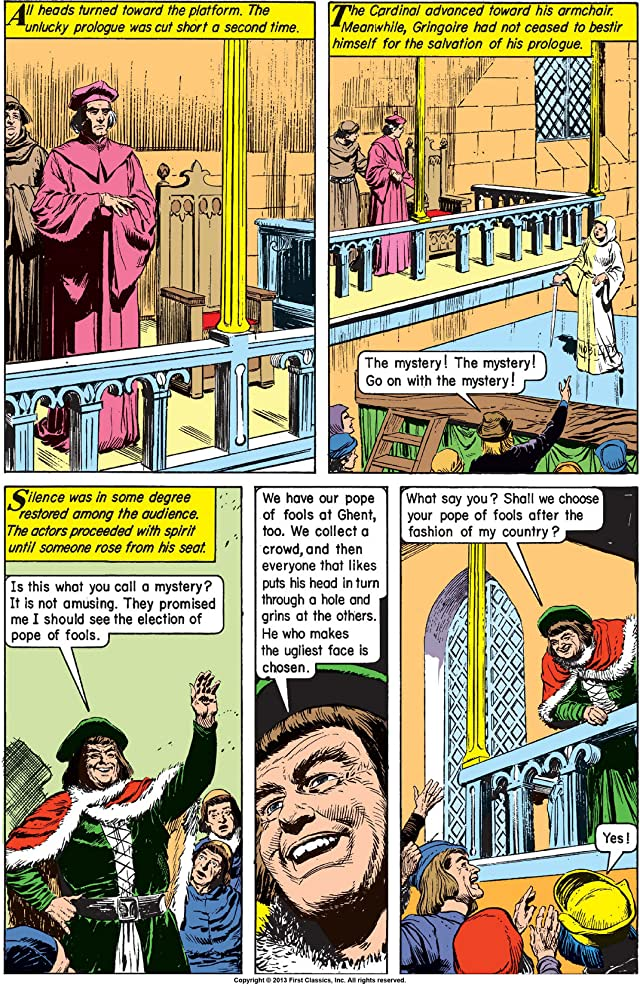click for super-sized previews of Classics Illustrated #18: The Hunchback of Notre Dame