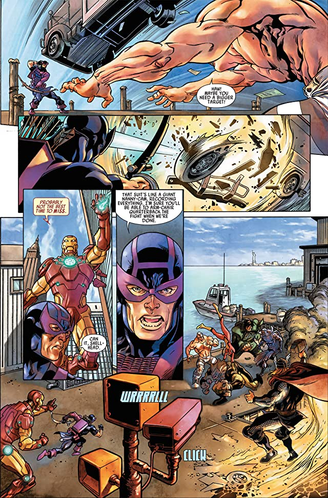 click for super-sized previews of Hawkeye: Blind Spot #1