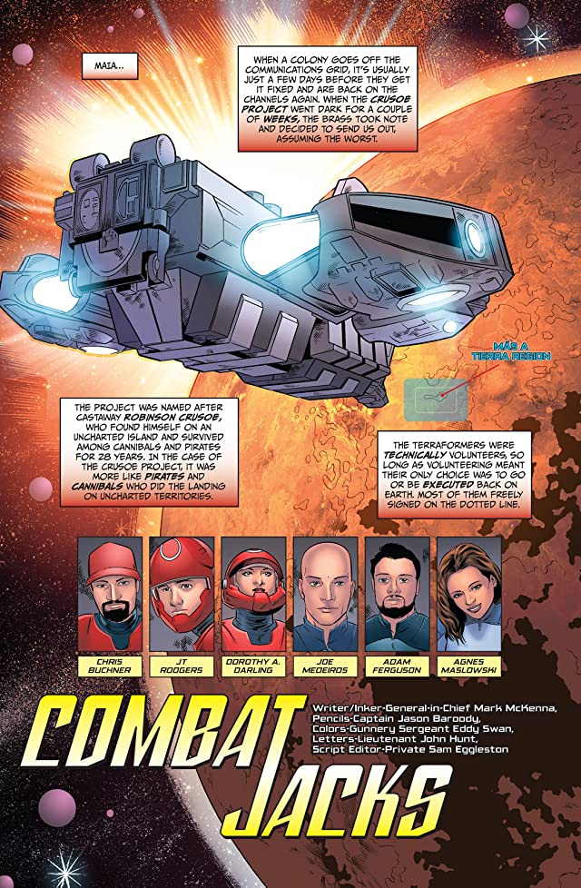 click for super-sized previews of Combat Jacks #1