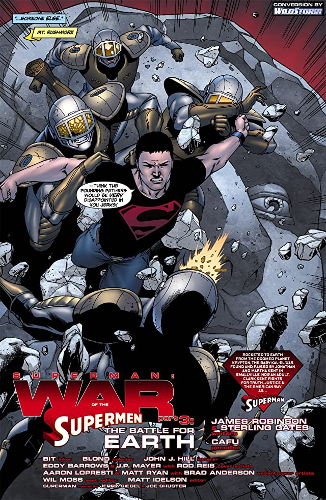 click for super-sized previews of Superman: War of the Supermen #3