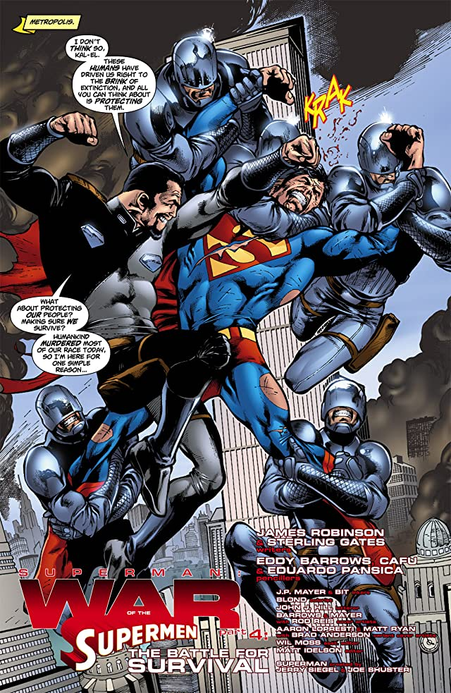 click for super-sized previews of Superman: War of the Supermen #4