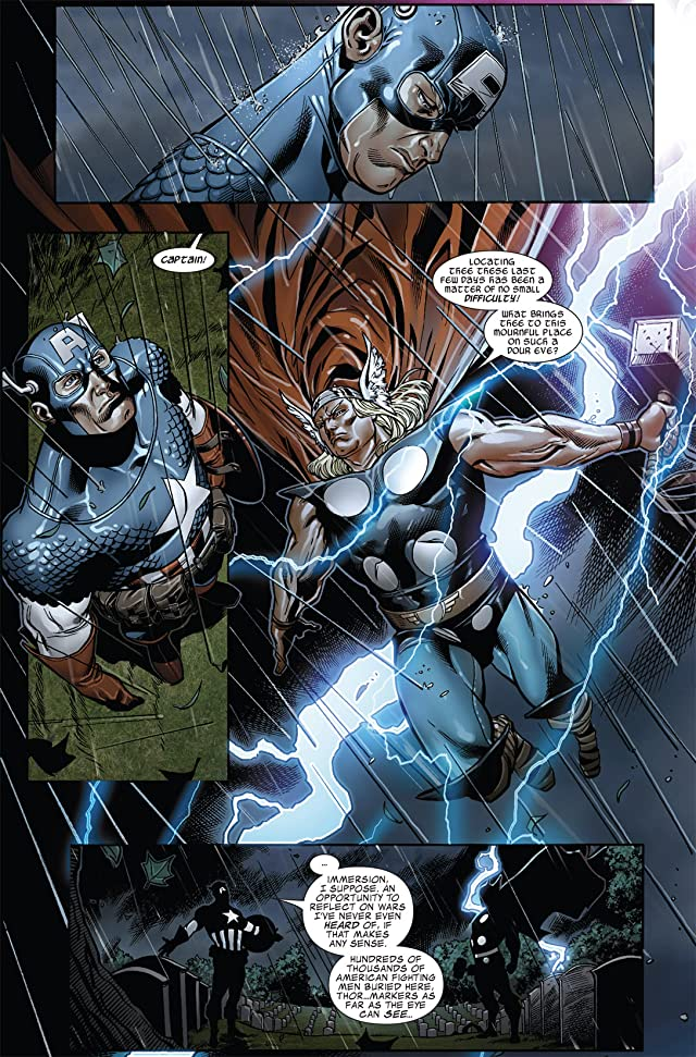 click for super-sized previews of Captain America: Man Out of Time #4