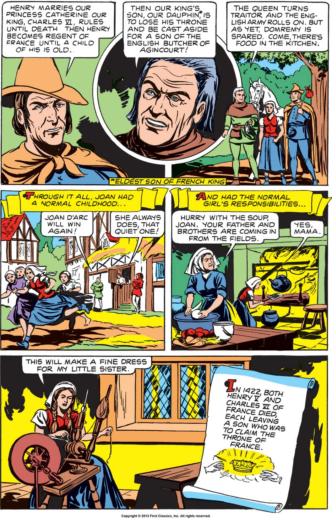 Classics Illustrated #78: Joan of Arc