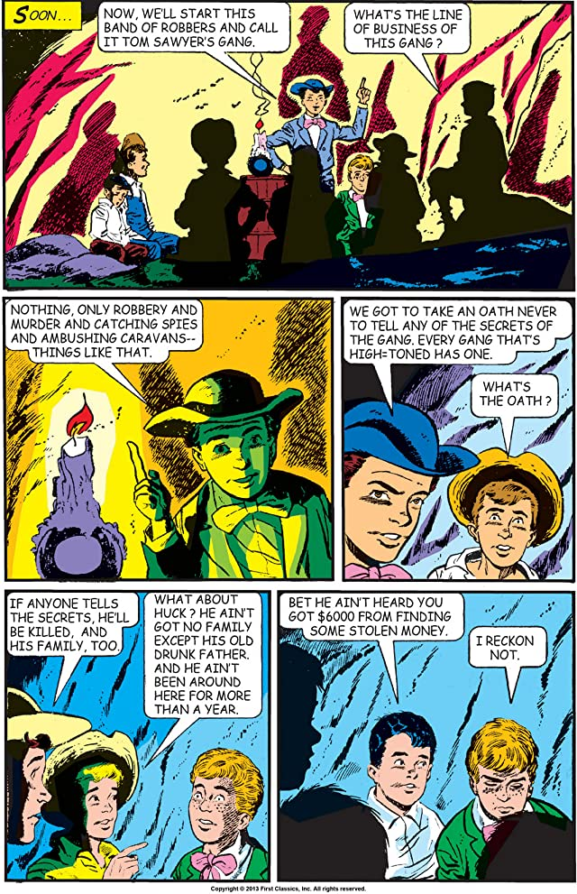 click for super-sized previews of Classics Illustrated #19: Huckleberry Finn