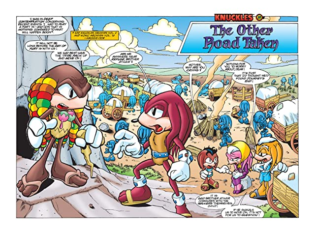 click for super-sized previews of Knuckles the Echidna #10