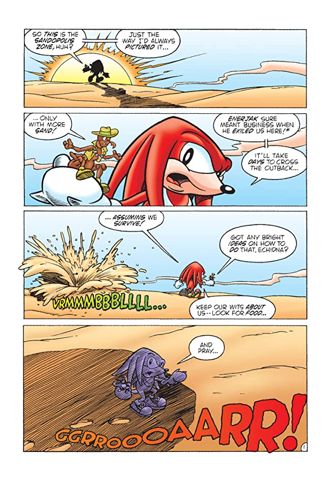 click for super-sized previews of Sonic's Friendly Nemesis: Knuckles #2