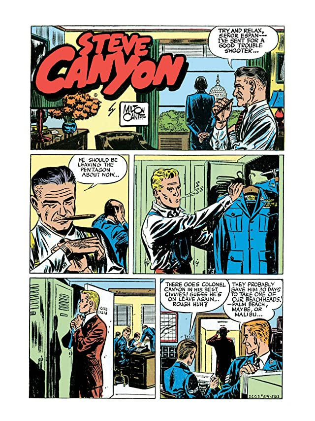 click for super-sized previews of Milton Caniff's Steve Canyon: The Complete Series Vol. 1