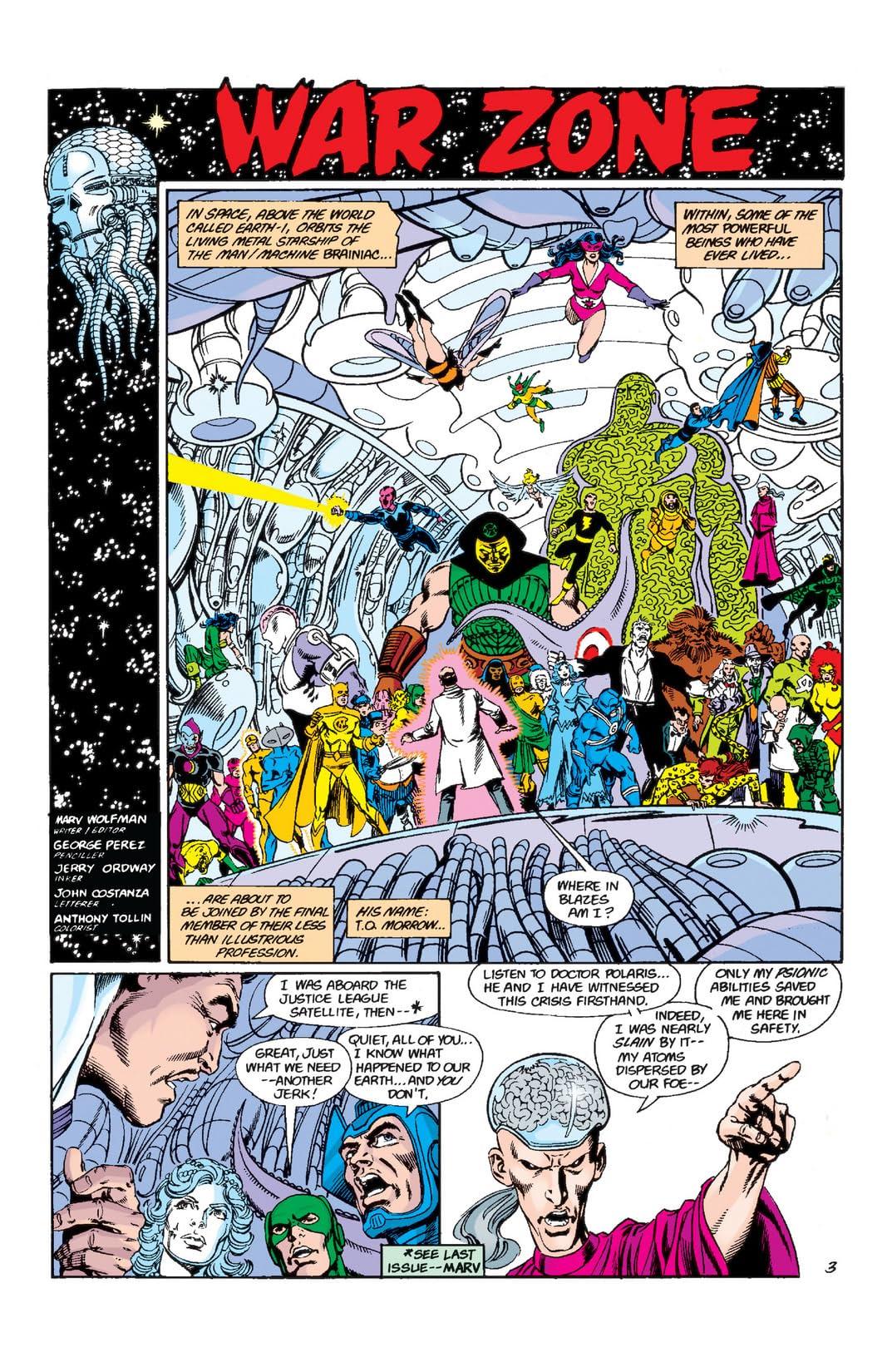Crisis on Infinite Earths #9