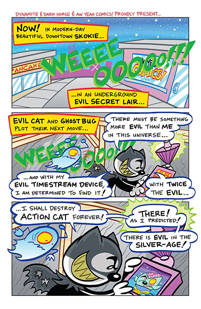 click for super-sized previews of Captain Action Cat: The Timestream Catastrophe #1: Digital Exclusive Edition