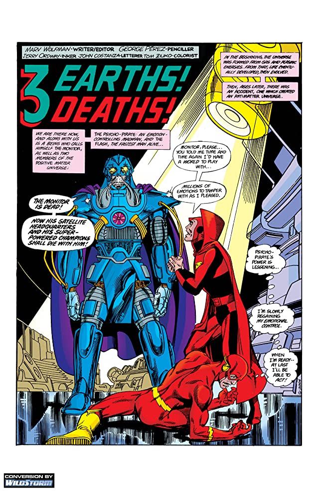 click for super-sized previews of Crisis on Infinite Earths #6