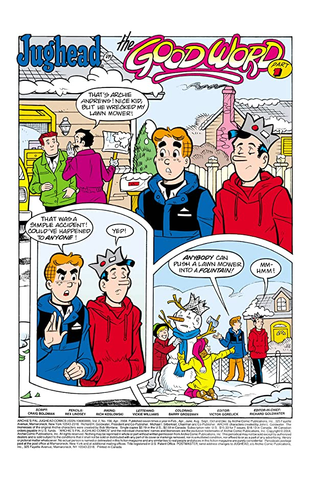 click for super-sized previews of Jughead #156