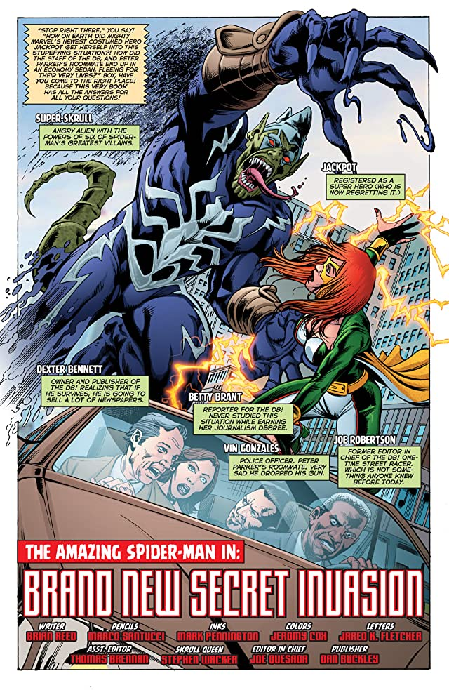 click for super-sized previews of Secret Invasion: The Amazing Spider-Man #1