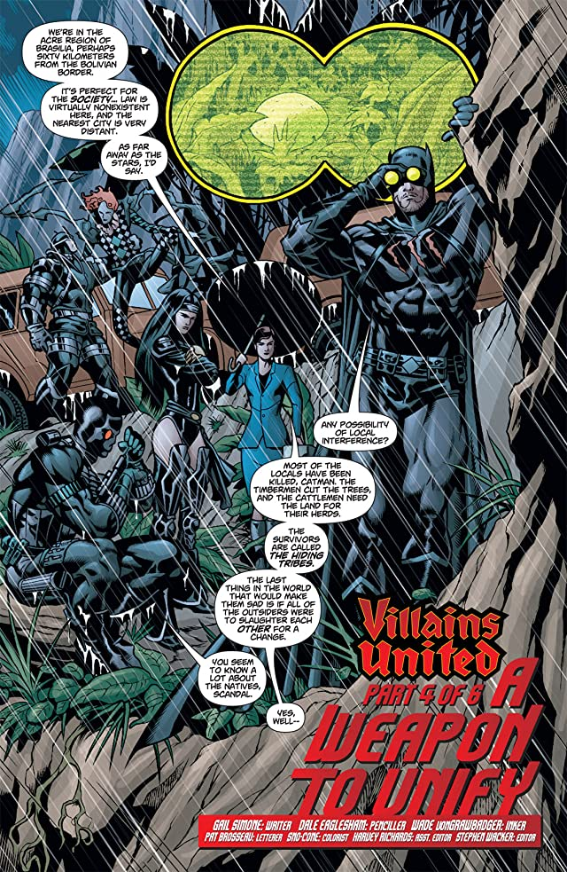 click for super-sized previews of Villains United #4