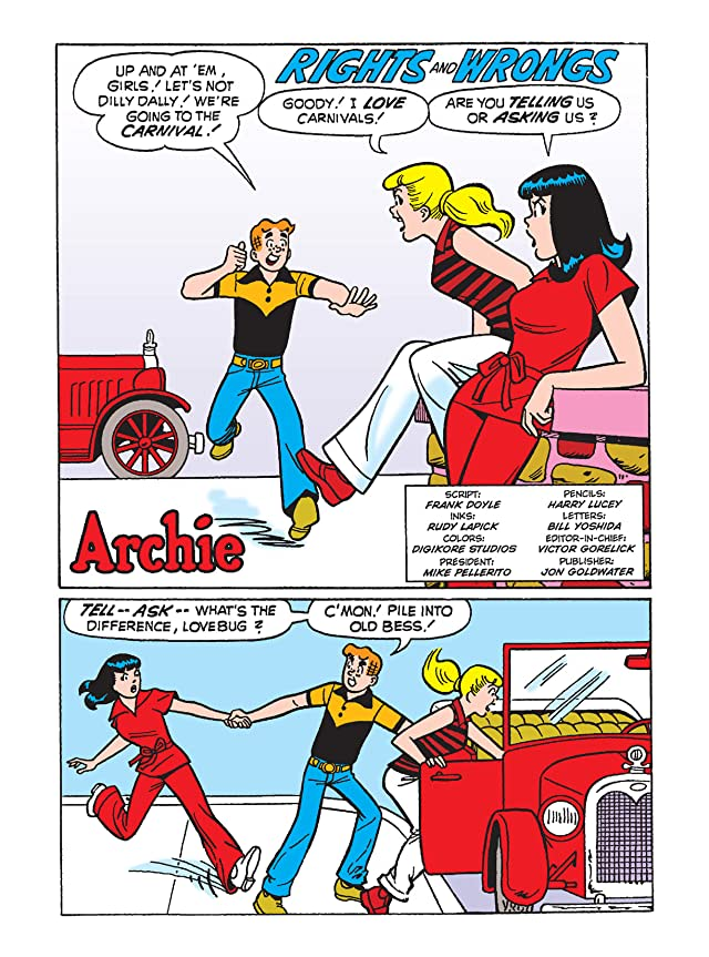 click for super-sized previews of Archie Comics Digest #251