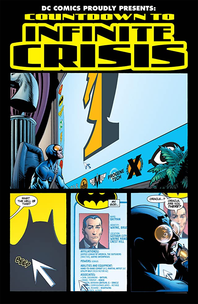 click for super-sized previews of Countdown to Infinite Crisis #1