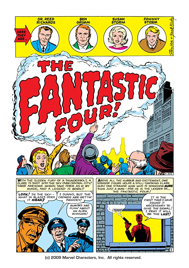click for super-sized previews of Fantastic Four (1961-1998) #1