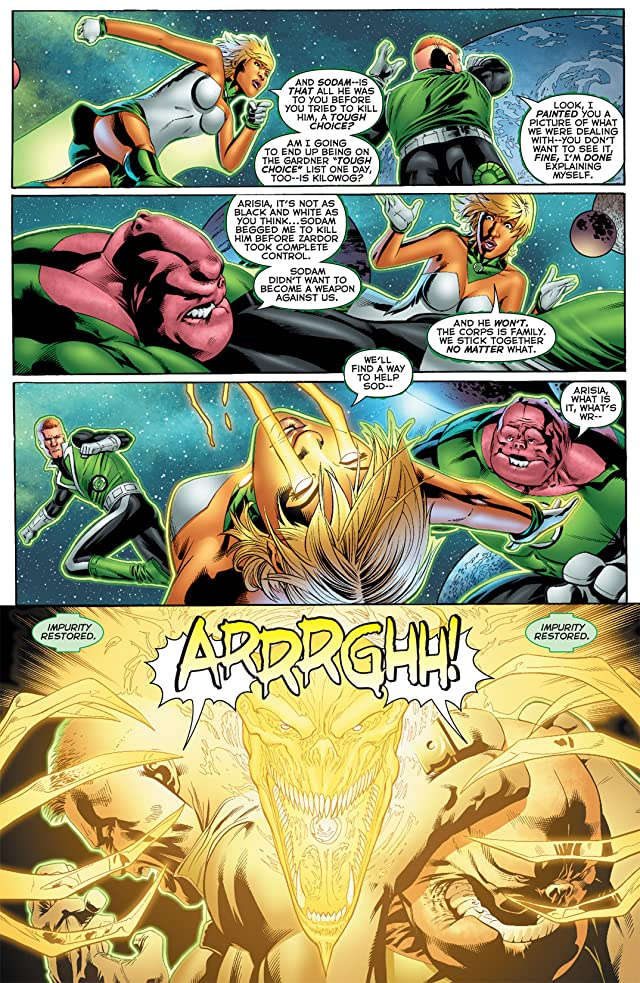 click for super-sized previews of Green Lantern: Emerald Warriors #8